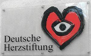 Celestino Piatti - heart logo, created by Piatti for the German Heart Foundation, Frankfurt