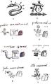 Logographic and phonetic spellings of snake coatl Aubin 1885 & Codex Santa María Asunción.png