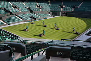 Tennis court - Grass court maintenance at Wimbledon