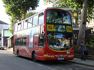 London Buses route 28 - First London Wright Eclipse Gemini bodied Volvo B7TL at Kensal Rise station in June 2007
