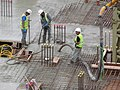 London November 1 2013 018 Building Site at 132 Green Lanes Hackney London N16 9EG. Concrete Pouring - panoramio.jpg