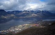 Picture overlooking Longyearbyen