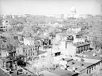 Federal City Council - Wholesale demolition of the slums in Southwest D.C. (depicted) was a key goal of the Federal City Council.