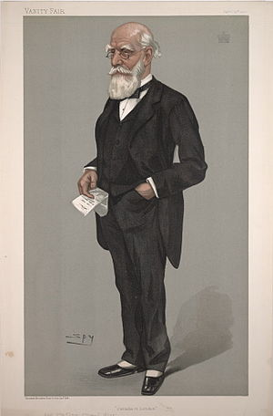 Donald Smith, 1st Baron Strathcona and Mount Royal - ″Canada in London″ by Leslie Ward, caricature of Lord Strathcona in Vanity Fair, 1900