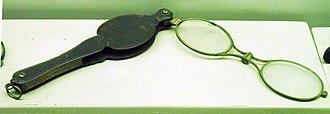 Lorgnette - Folding set of Lorgnette spectacles, Bedford Museum, Bedford.