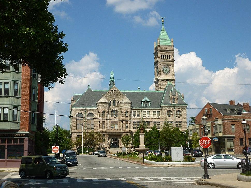 Lowell City Hall; Lowell, MA; southwest side; 2011-08-20