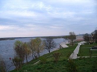 Loyew - the Dnieper river in Loyew