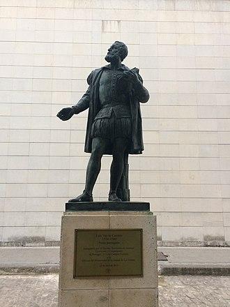 Luís de Camões - A statue commemorating de Camões in Havana, Cuba