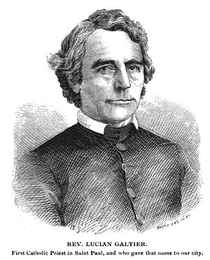Lucien Galtier - Drawing of Lucien Galtier from an 1876 history of the city of St. Paul