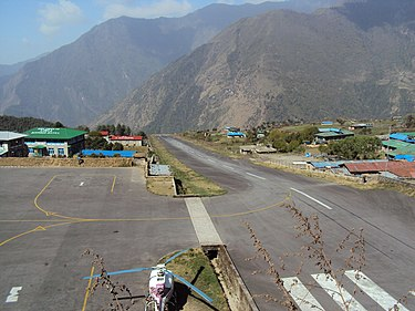 Tenzing-Hillary Airport at Lukla Lukla Airport April 2010.JPG