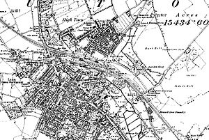 Luton - A map of Luton from 1888