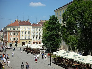 Lviv bid for the 2022 Winter Olympics - View of Rynok Square in Lviv