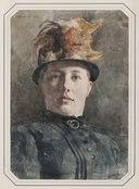 Möjligen Wilhelmina (Mina) Carlson (1857-1943), g. Bredberg, konstnär (Carl Hedelin) - Nationalmuseum - 154846.tif