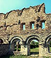 Mănăstirea Cârța - zid lateral.JPG