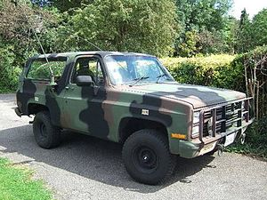 Military light utility vehicle - M1009 CUCV a militarized Chevrolet K5 Blazer