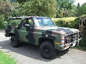 Military light utility vehicle - M1009 CUCV a militarized Chevrolet K5 Blazer