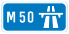 M50 motorway shield}}