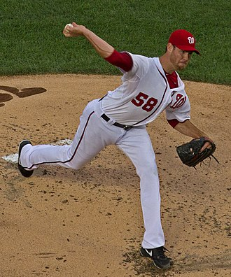 Doug Fister - Fister pitching for the Washington Nationals in 2014