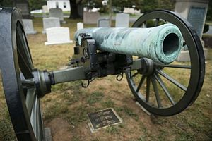 Wallace F. Randolph - A US Civil War Napoleon Cannon which marks the gravesite of the first Chief of Artillery