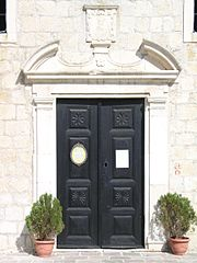MN, Budva 059 - kostel sv Ivana (portal).jpg