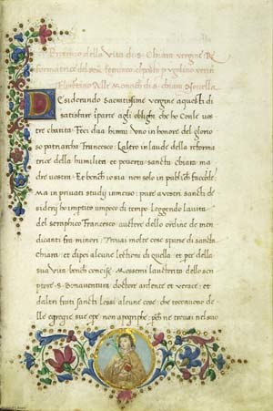 George Venables-Vernon, 5th Baron Vernon - One of the many manuscripts obtained for the Baron's collection. This one is by Ugolino Verno, from 1496.