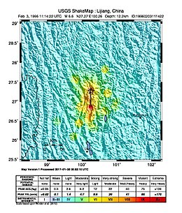 M 6.6 - Sichuan-Yunnan border region, China - intensity.jpg