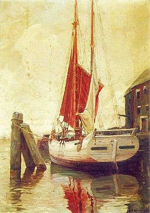 Michał Gorstkin-Wywiórski - Sailboat (1918)