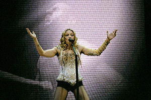 "Frozen (Madonna song) - Madonna performing ""Frozen"" on her Re-Invention World Tour of 2004."