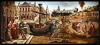 Maestro dei cassoni campana, teseo e il minotauro, 1510-15 ca. (avignone, petit palais) 01.jpg