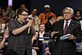 Magician Kyle Marlett on The Tonight Show with Jay Leno hammering a screw driver into his nose.jpg