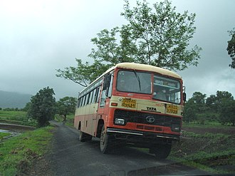 Maharashtra State Road Transport Corporation - Image: Maharashtra state rural Tata bus