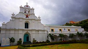 San Carlos Borromeo Church (Mahatao) - The facade of Mahatao Church and Convent