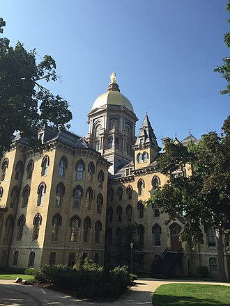 Main Building (University of Notre Dame) - Image: Main Building, Notre Dame, Side