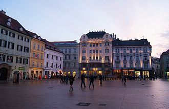 Old Town, Bratislava - Bratislava's main square.
