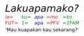 Makassarese clitics order example.png