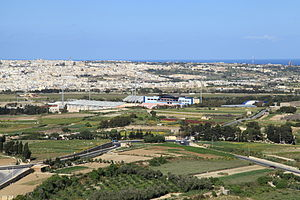 Three villages of Malta - View of Attard and the surrounding area from the walls of Mdina.