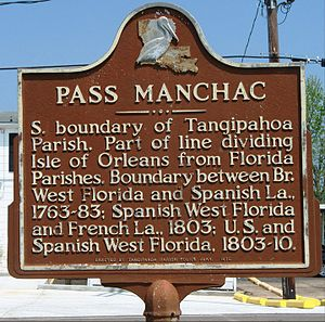Manchac, Louisiana - Historical marker in Manchac (Akers), Louisiana