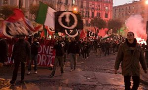 CasaPound - CasaPound rally in Naples.