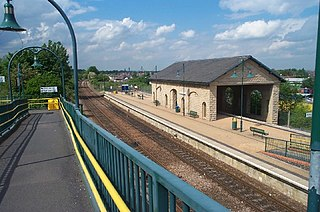 Mansfield Woodhouse railway station Railway station in Nottinghamshire, England