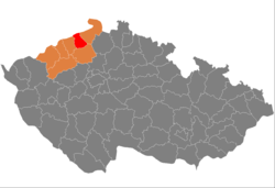 District location in the اوستی ناد لاہم علاقہ within the چیک جمہوریہ