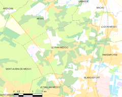 Map commune FR insee code 33322.png