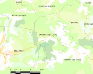 Carlencas-et-Levas - Map