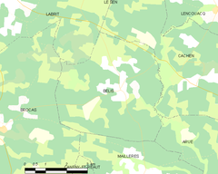 Map commune FR insee code 40033.png