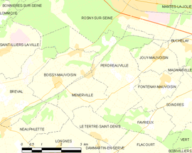 Mapa obce Perdreauville