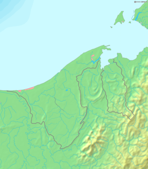 Geography of Brunei - Image: Map of Brunei Demis