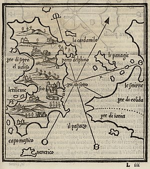Map of Chios - Bordone Benedetto - 1547