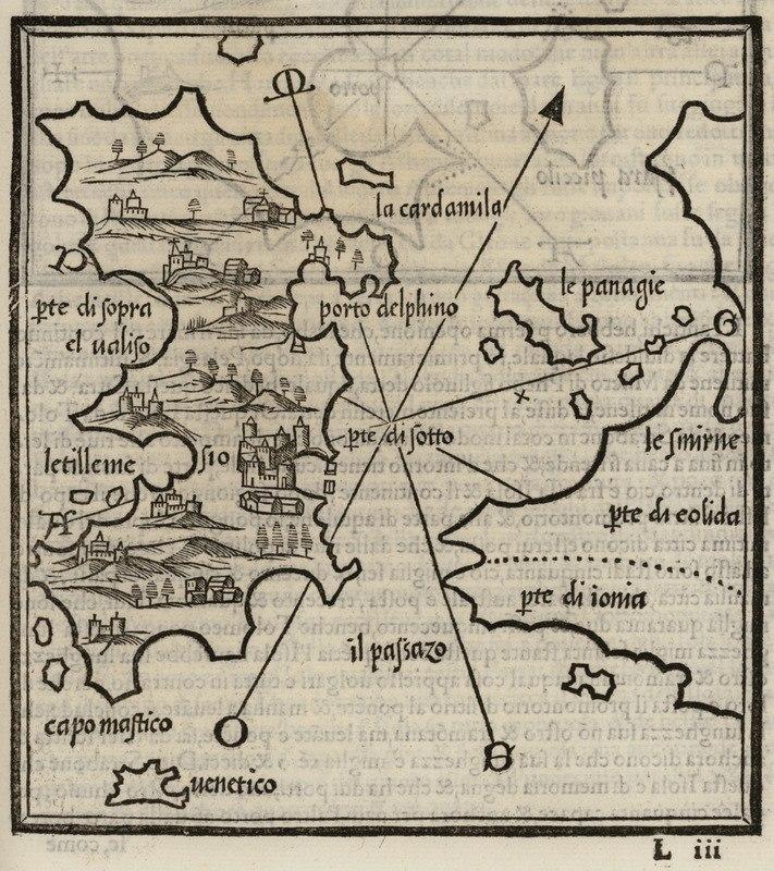 Map of Chios - Bordone Benedetto - 1547