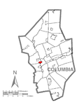 Map of Fernville, Columbia County, Pennsylvania Highlighted.png