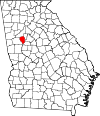 Map of Georgia highlighting Fayette County.svg