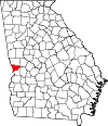 Map of Georgia highlighting Muscogee County.svg